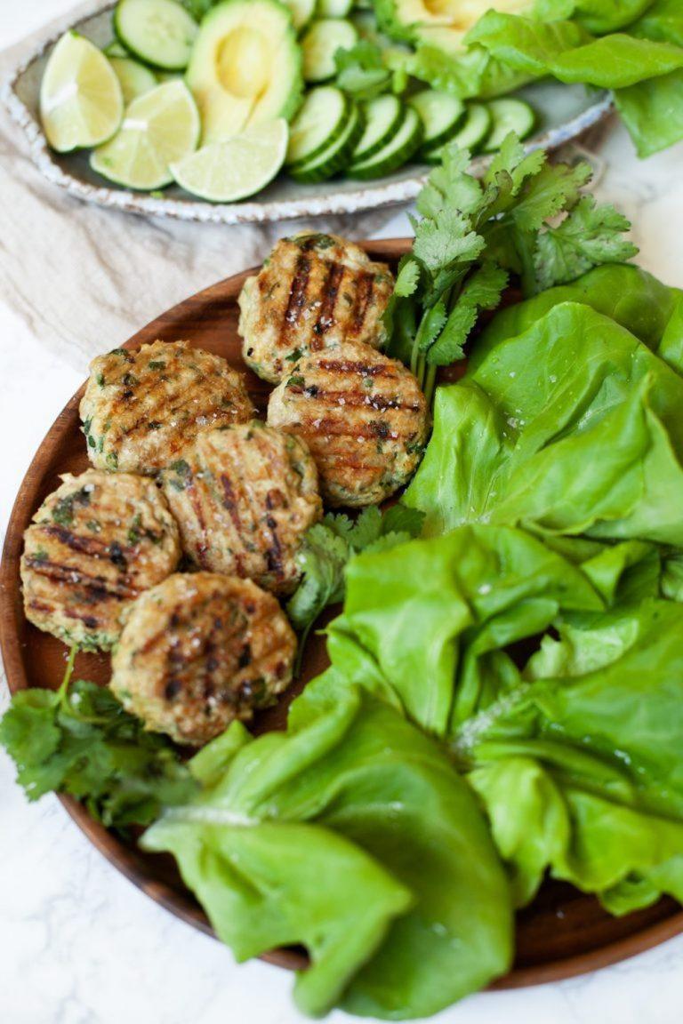 chicken burger wraps