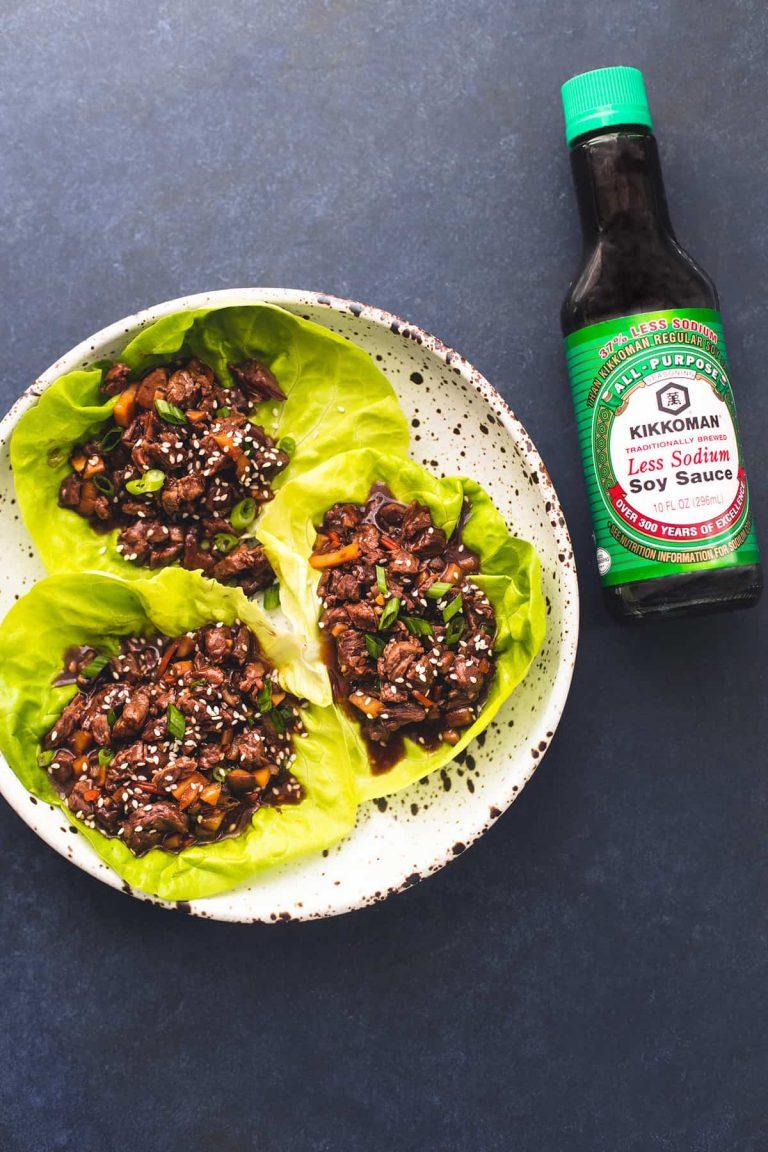 honey beef lettuce wraps from la creme de la crumb