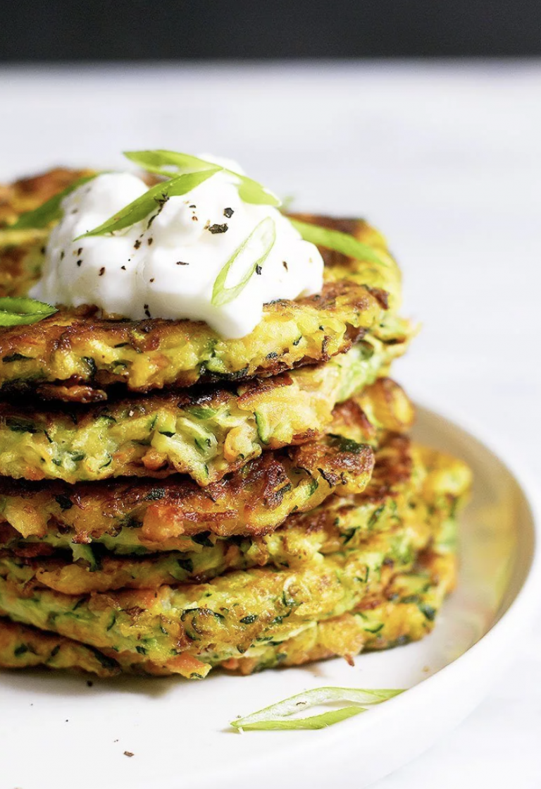 zucchini fritters from eat well 101