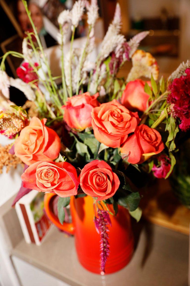 flowers in Lani Halliday's brooklyn apartment
