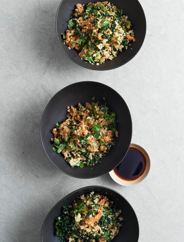 fried cauli rice kimchi