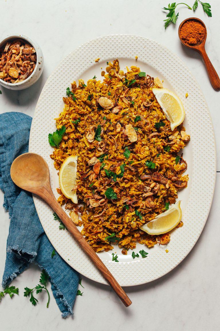 crispy curried cauli rice