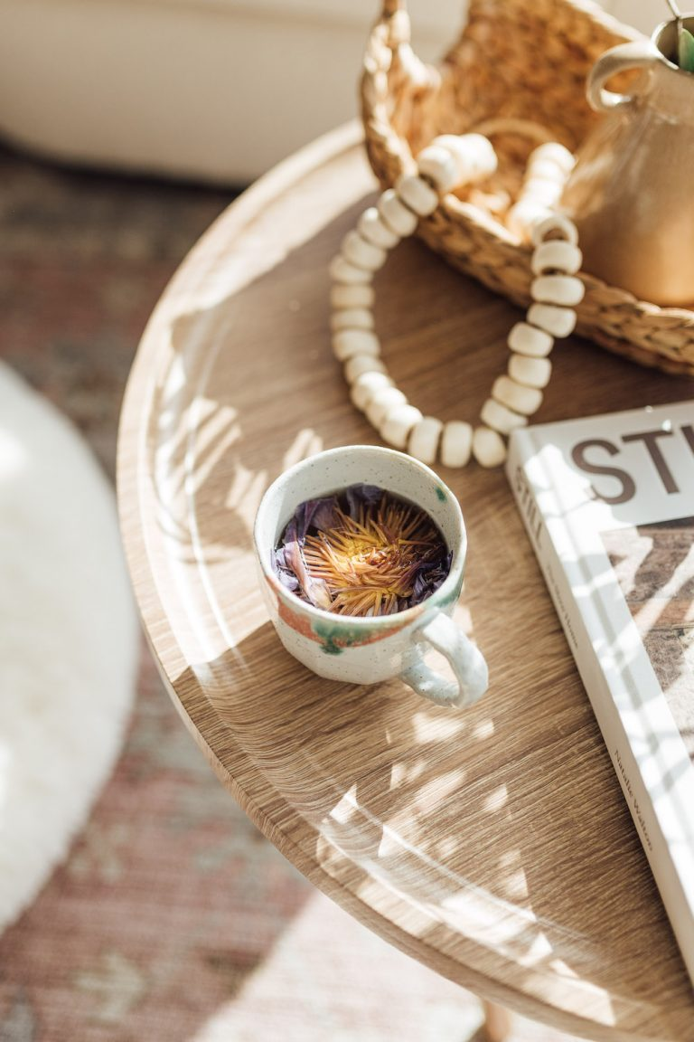 floral infused cozy tea