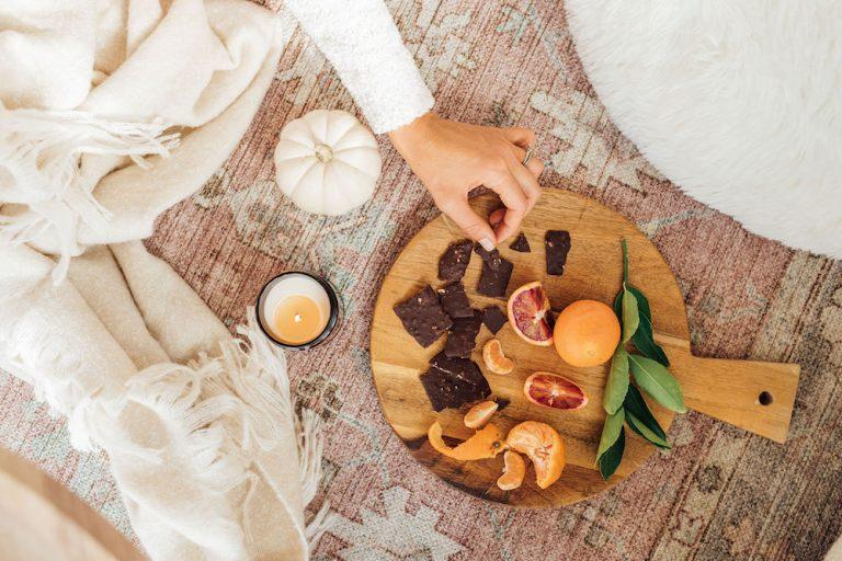 simple luxuries - winter citrus and dark chocolate