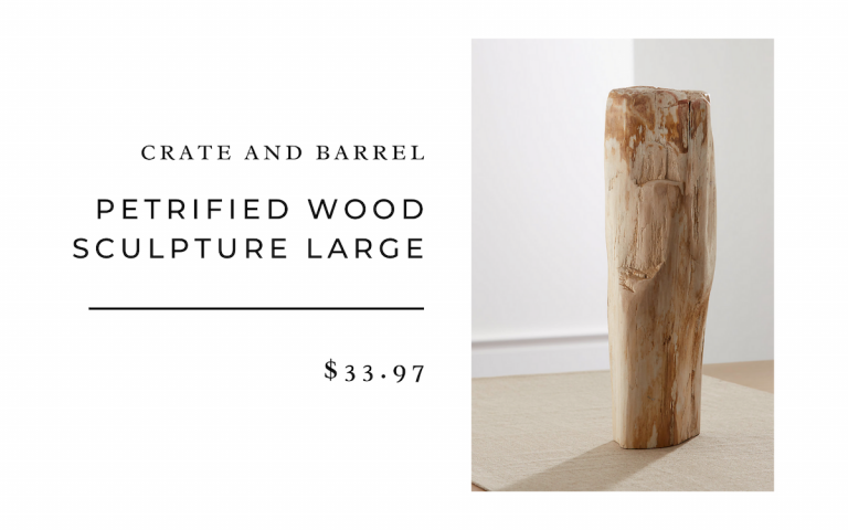 Crate and Barrel Petrified Wood Sculpture Large
