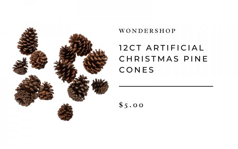 Artificial Christmas Pine Cones