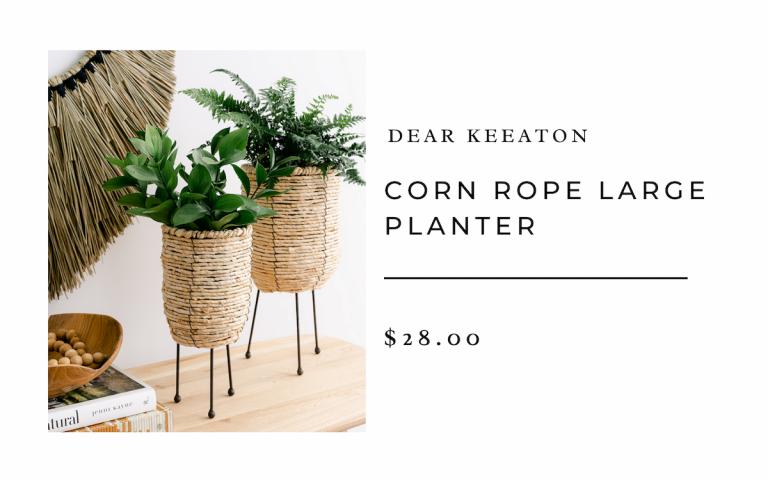 dear keaton CORN ROPE LARGE PLANTER