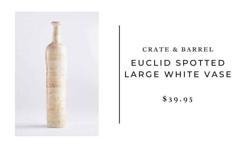 Crate & Barrel white vase