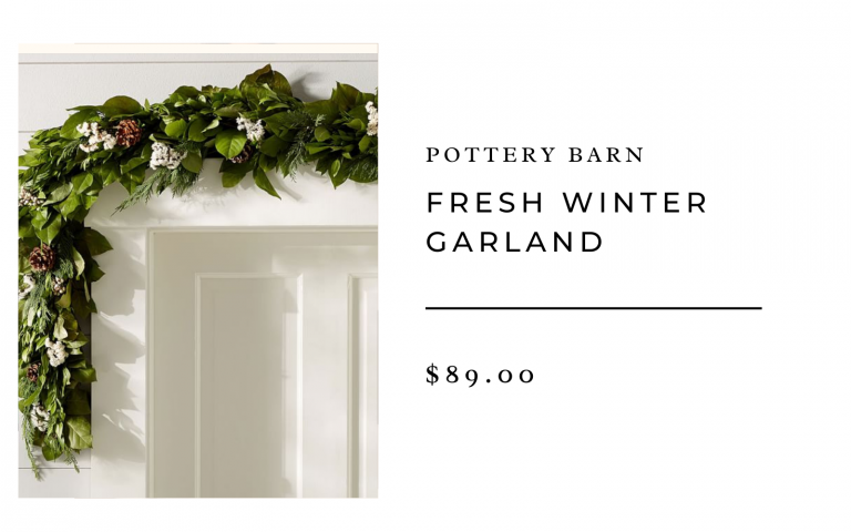 Pottery Barn fresh winter garland