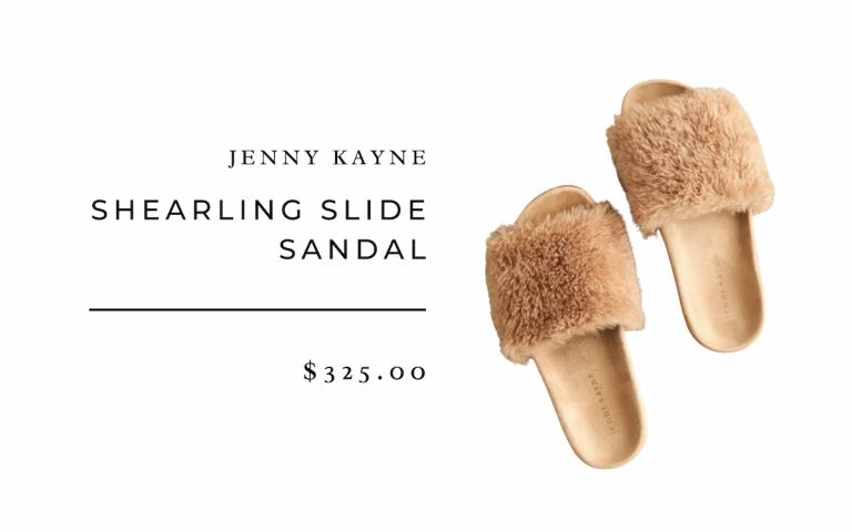 Jenny Kayne Shearling Slide Sandal 2