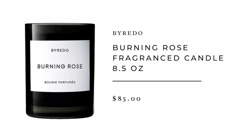 Byredo : Burning Rose Fragranced Candle 8.5 oz.