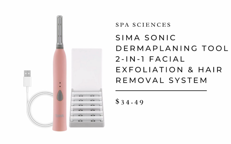Spa Sciences - Sima Sonic Dermaplaning 2-in1 Facial Exfoliation Removal System