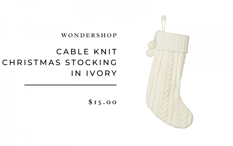 Cable Knit Christmas Stocking in Ivory