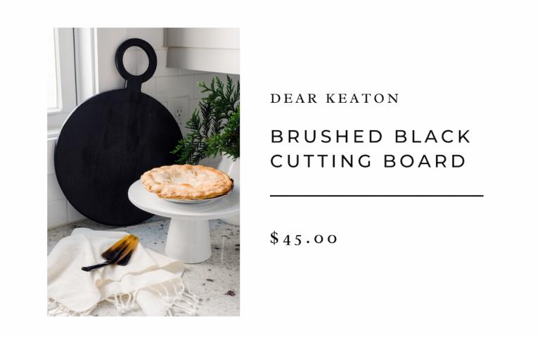 Brushed Black Cutting Board