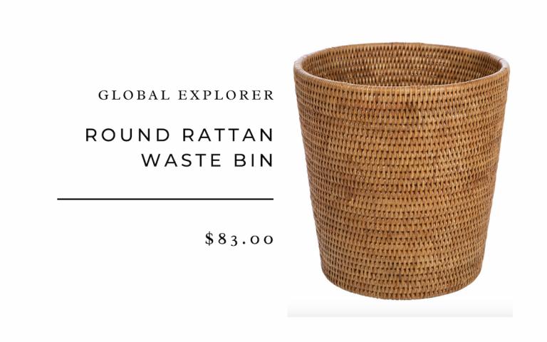 Global Explorer : Round Rattan Waste Bin