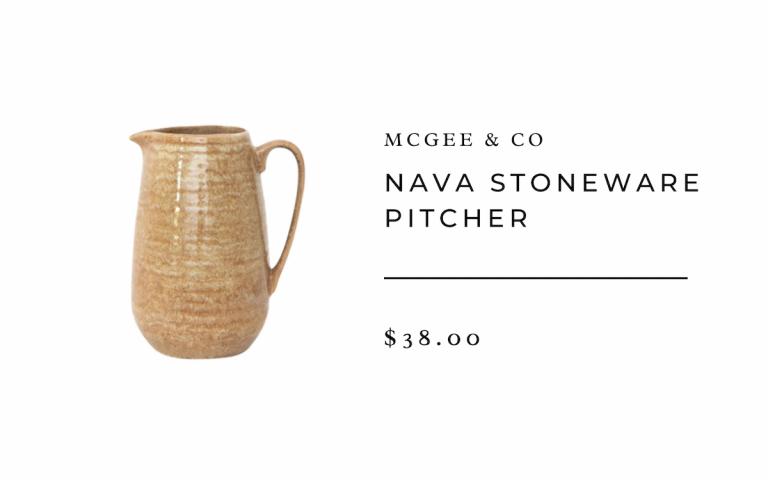 Nava Stoneware Pitcher