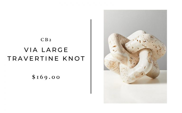 CB2 travertine knot