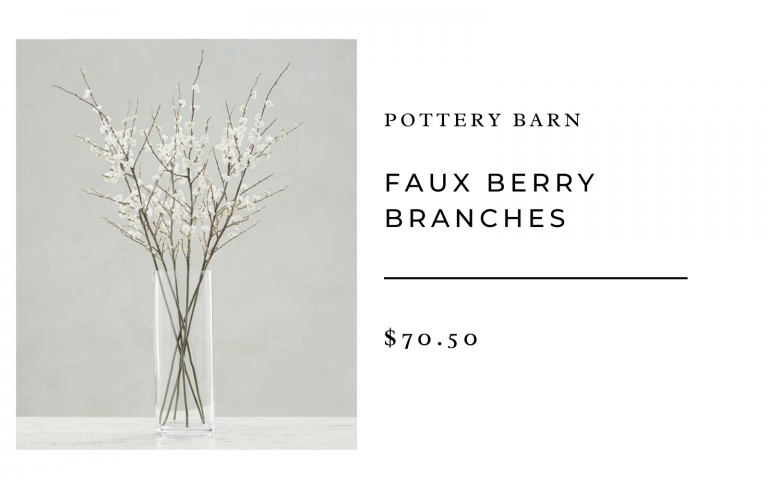 pottery barn faux berry branches