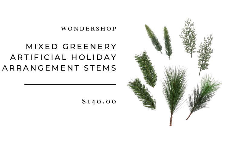 Mixed Greenery Artificial Holiday Arrangement Stems