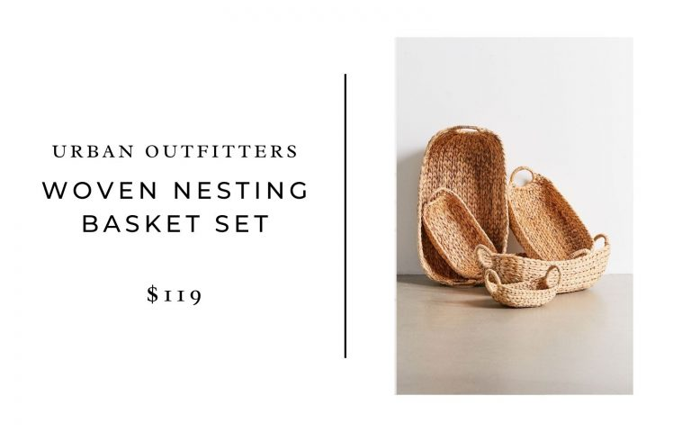 Urban Outfitters woven nesting basket set