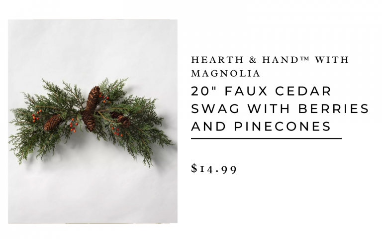 hearth and hand faux cedar branches