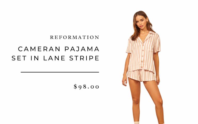 Pijama Reformation Cameran en Lane Stripe