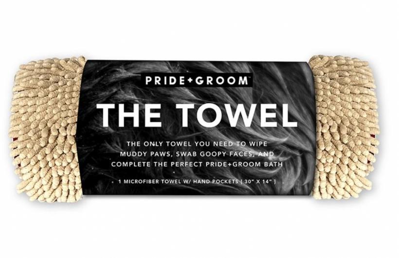 pride + groom the towel