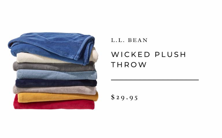 L.L. Bean Wicked Plush Throw