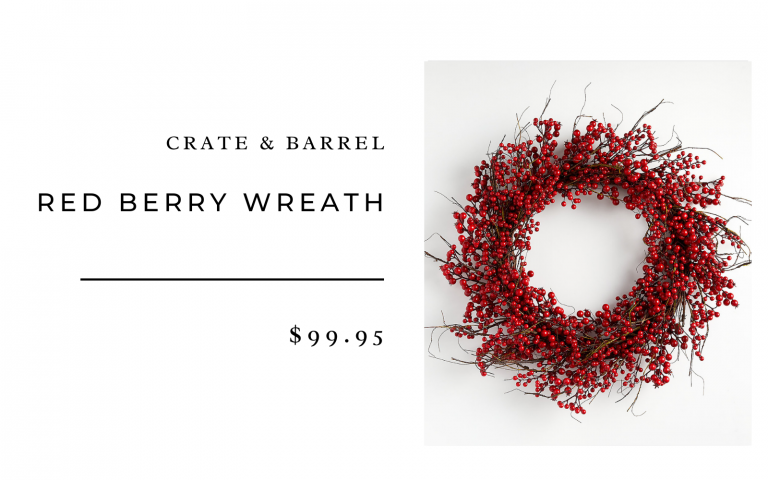 Crate & Barrel red berry wreath