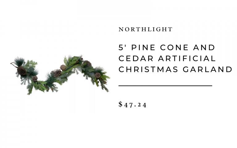 Pin Cone and Cedar Christmas Garland