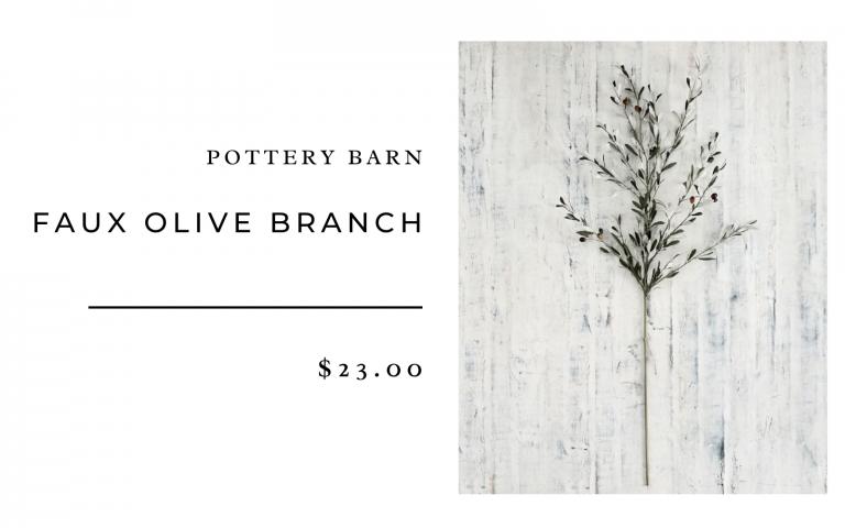 pottery barn olive branch