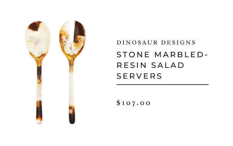 dinosaur designs : Stone marbled-resin salad servers