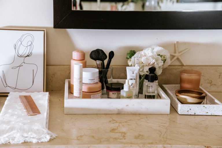camille styles bathroom beauty products