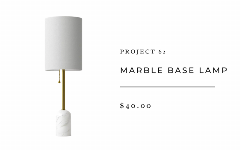 Project 62 Marble Base Lamp