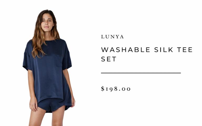 Conjunto de camiseta de seda lavable Lunya