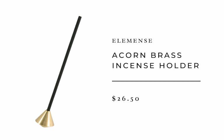 Elemense Acorn Brass Incense Holder