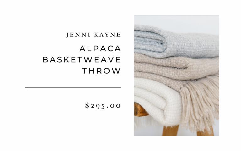 Jenni Kayne Alpaca Basketweave Throw