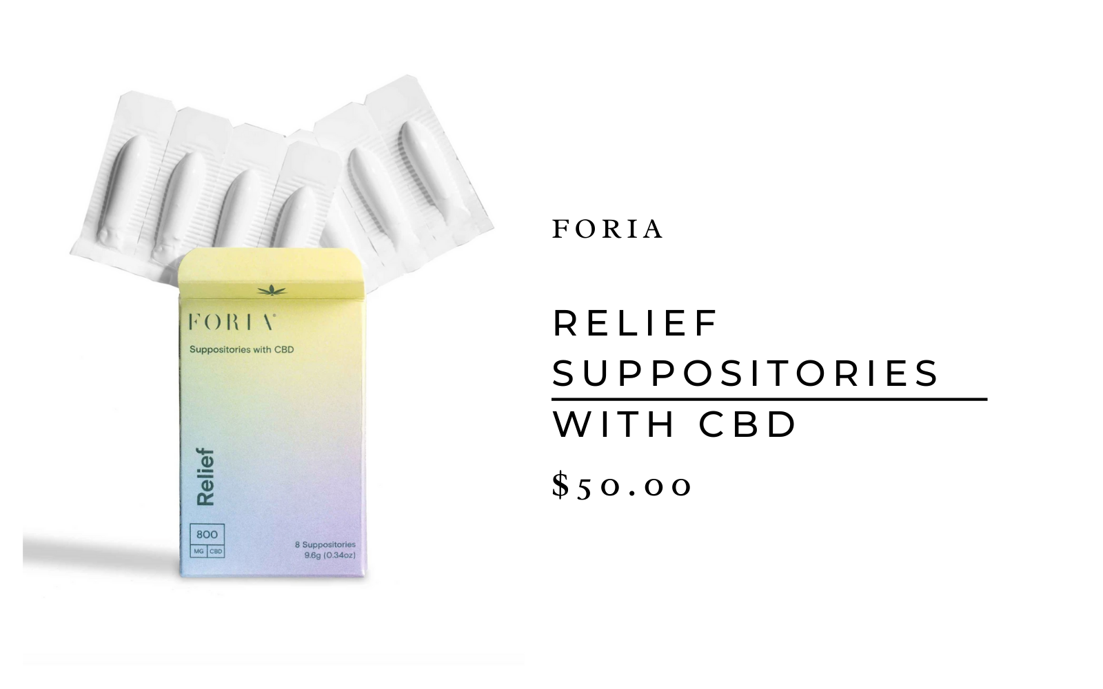 Foria suppositories with CBD