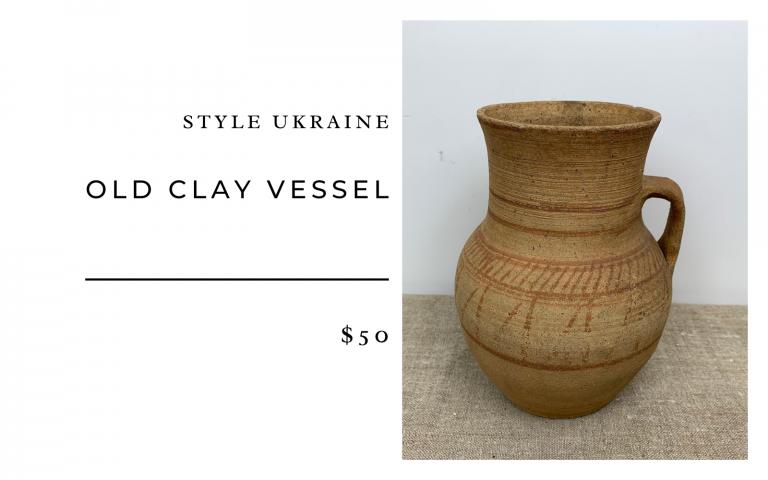 Style Ukraine Old Clay Vessel