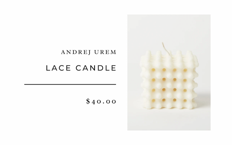 Andrej Urem Lace Candle