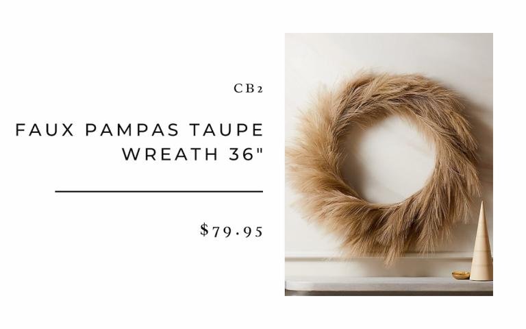 CB2 Faux Pampas Taupe Wreath