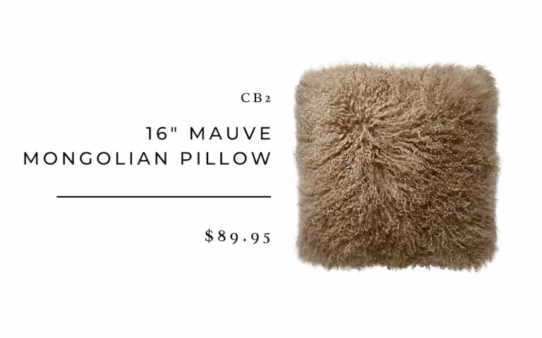 CB2 Mongolian Pillow