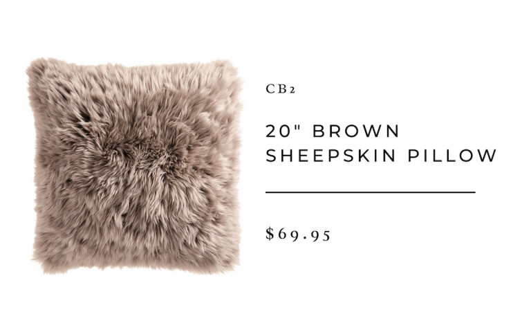 CB2 Brown Sheepskin Pillow