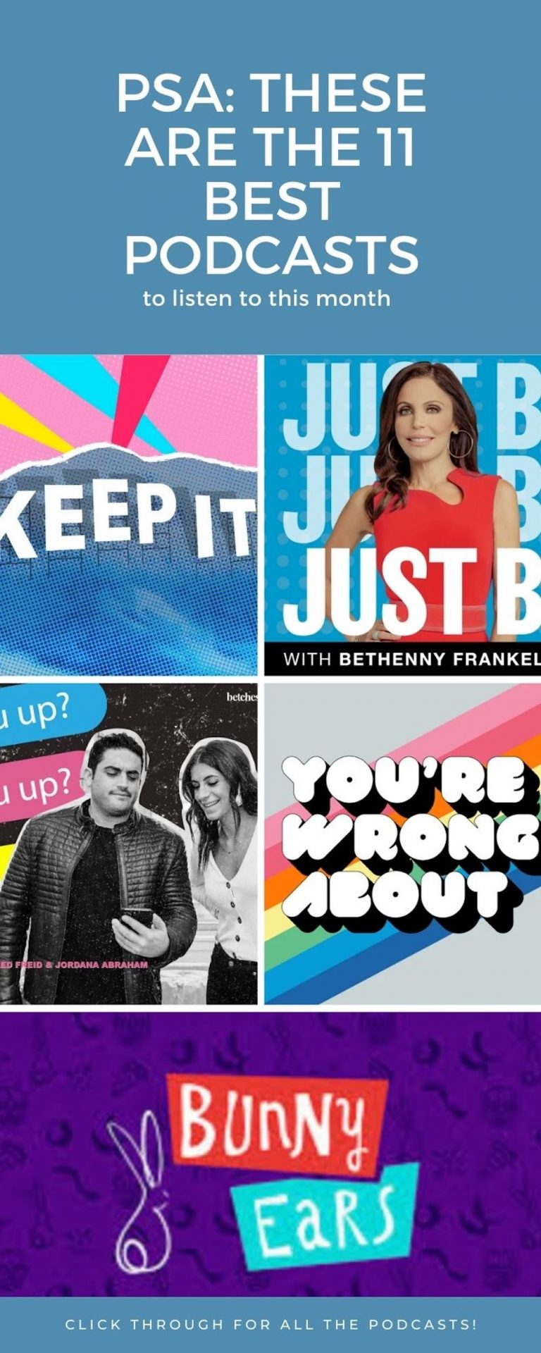 Pinterest - 11 Best Podcasts To Listen to This Month Roundup
