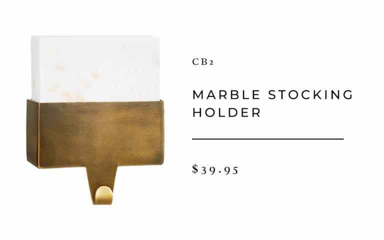 CB2 Marble Stocking Holder