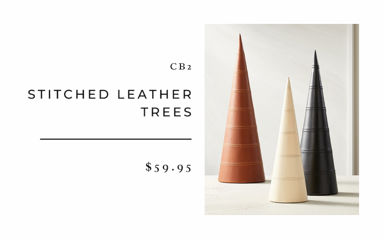 CB2 Stitched Leather Trees