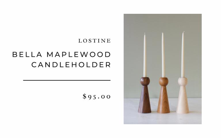 Lostine Bella Maplewood Candleholders