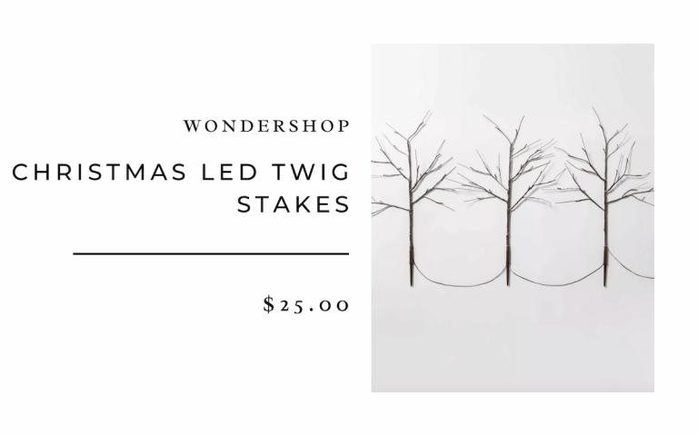 Target Christmas LED Twig Stakes