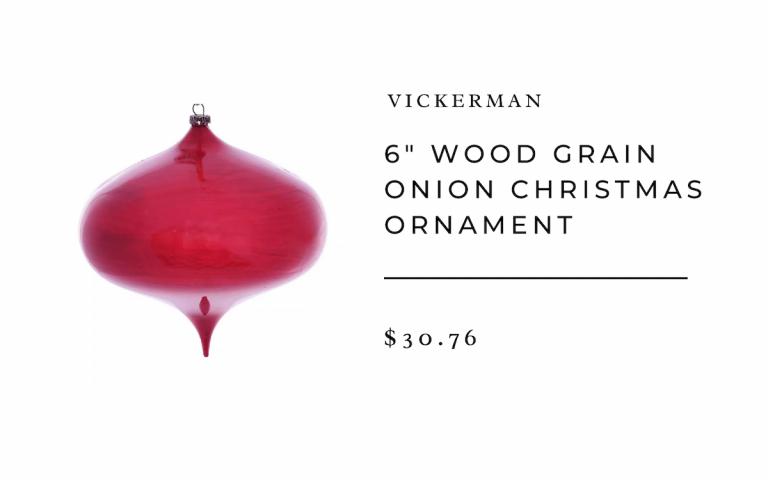 "Target Vickerman 6"" Wood Grain Onion Christmas Ornament"
