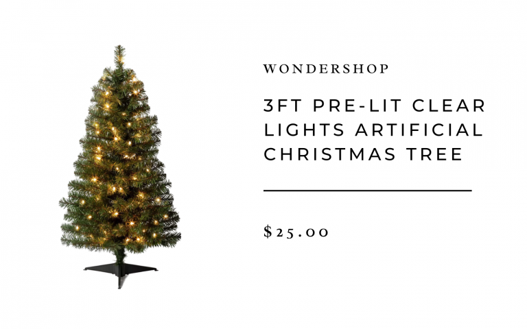 3ft Pre-Lit Clear Lights Artificial Christmas Tree